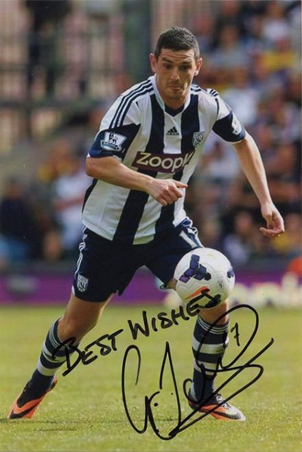 Graham Dorrans, West Brom & Scotland, signed 6x4 inch photo.
